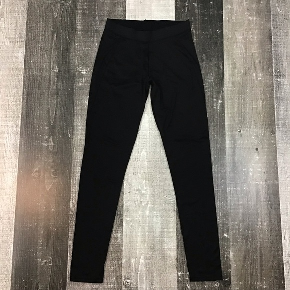 Cuddl Duds Pants - ClimateRight by Cuddl Duds Black Thermal Leggings